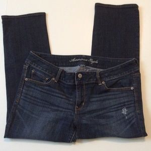 American Eagle Outfitters Jeans - American Eagle Artist Crop Size 14 medium blue